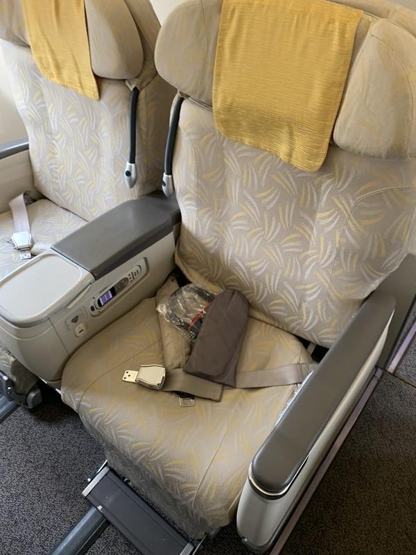 OZ354ビジネスクラスの座席