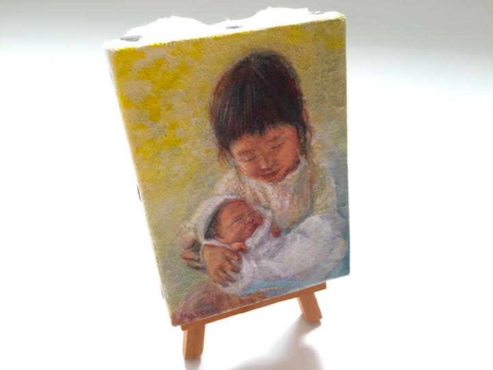誕生記念油絵のイメージ03