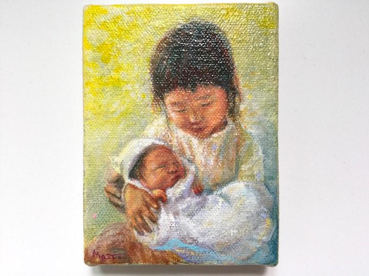 誕生記念油絵のイメージ02