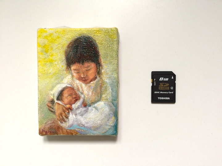 誕生記念油絵のイメージ04