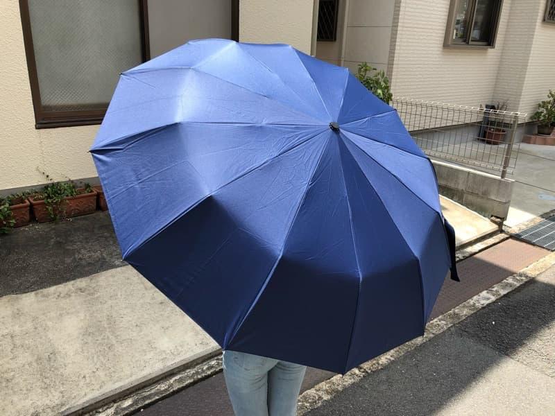 メンズ晴雨兼用自動開閉折りたたみ傘のイメージ05
