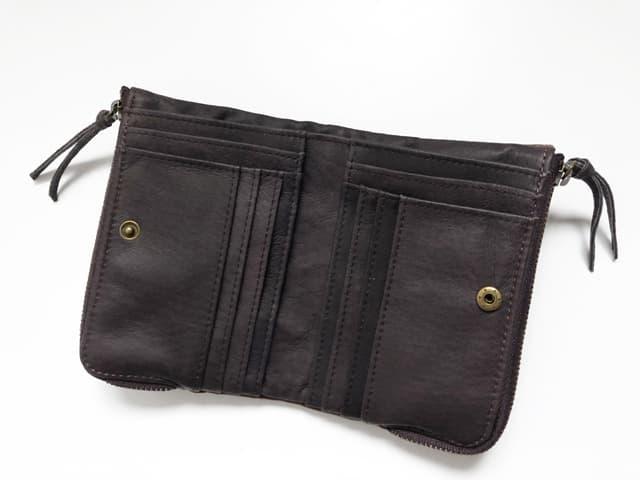 DEVICE ヴィンテージ ダブルジップ二つ折り財布のイメージ画像03