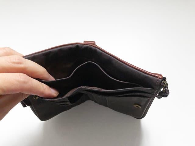 DEVICE ヴィンテージ ダブルジップ二つ折り財布のイメージ画像04
