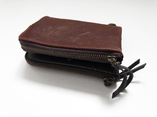 DEVICE ヴィンテージ ダブルジップ二つ折り財布のイメージ画像05