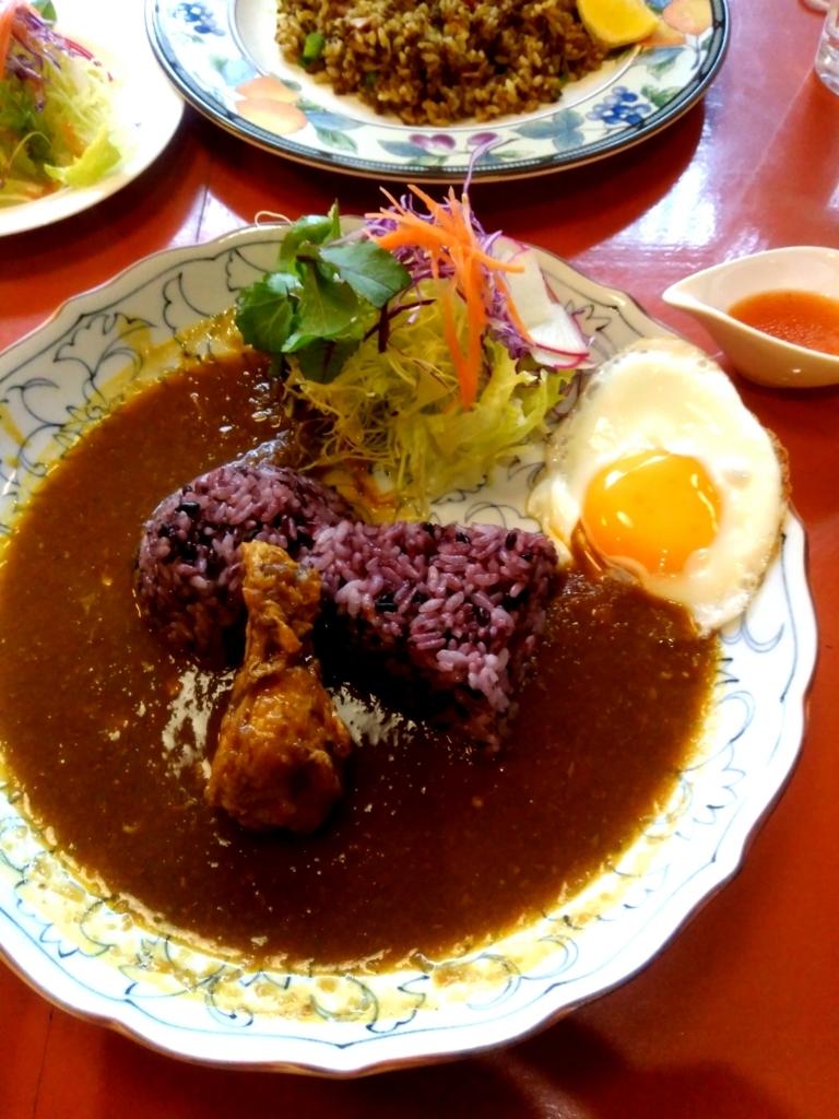 CAFE茶馬古道さんの古代米カレー