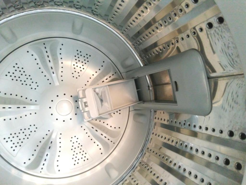 ハイアール洗濯機JW-C55Aの洗剤投入口