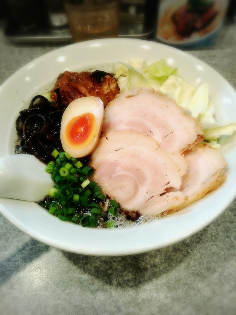 川越市 麺屋MANIさんの黒ラーメンダブル 1000円