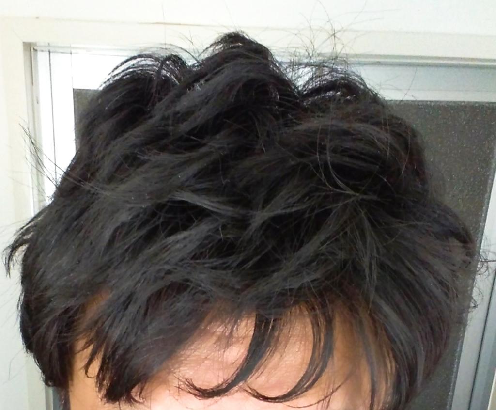 ガイコツの髪の毛アイロン後