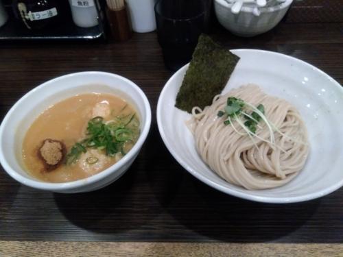 鶏そば一瑳さんの鶏白湯つけ麺(並盛) 780円
