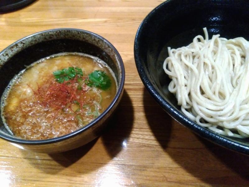 麺屋ひな多さんの限定 海老味噌のつけそば(並) 900円