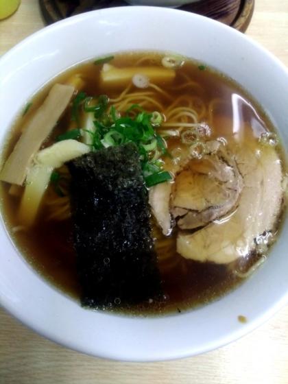支那そば心麺さんの白メンマの醤油ラーメン 930円