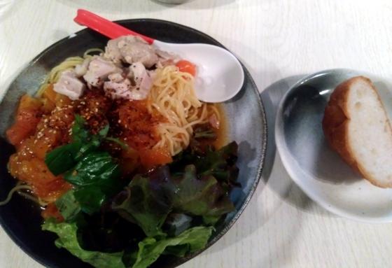 麺屋 誉さんの限定・冷やしトマトの冷麺 800円