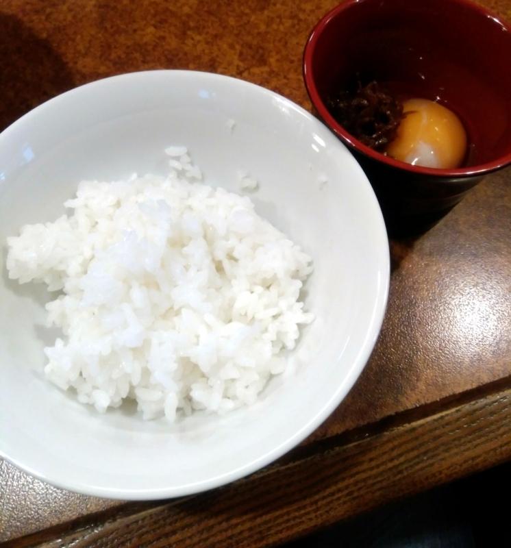 ラーメン育元(いくげん)吉見店さんのちりめん山椒の卵かけご飯 350円