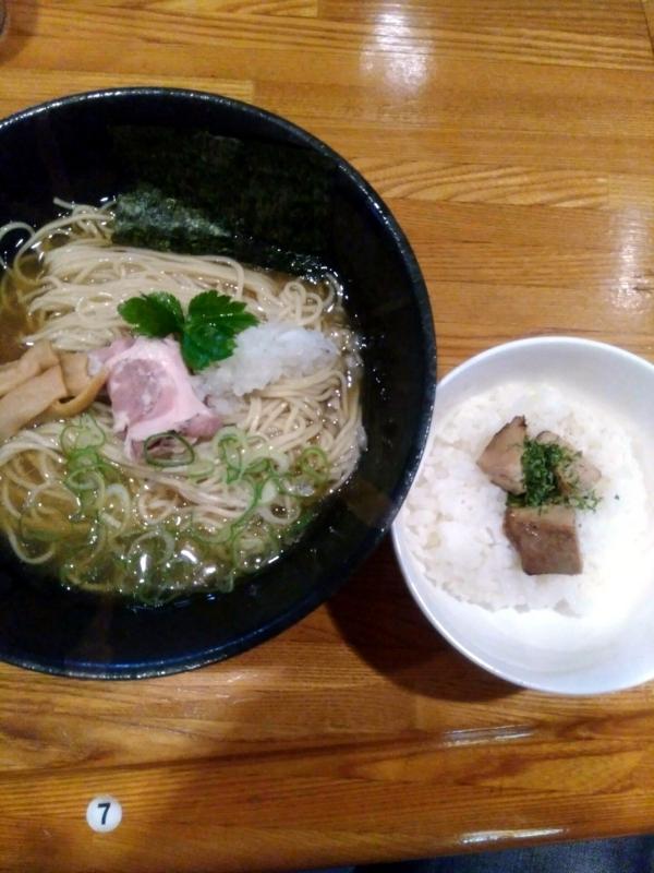 ひな多さんの平子と夏鯵の冷製煮干しそば(並) 1000円