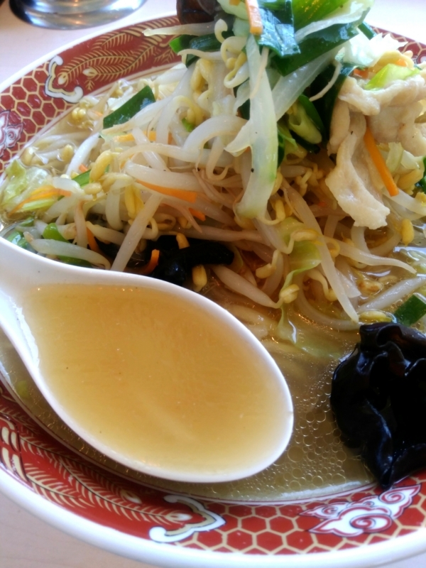 タンメンのスープ