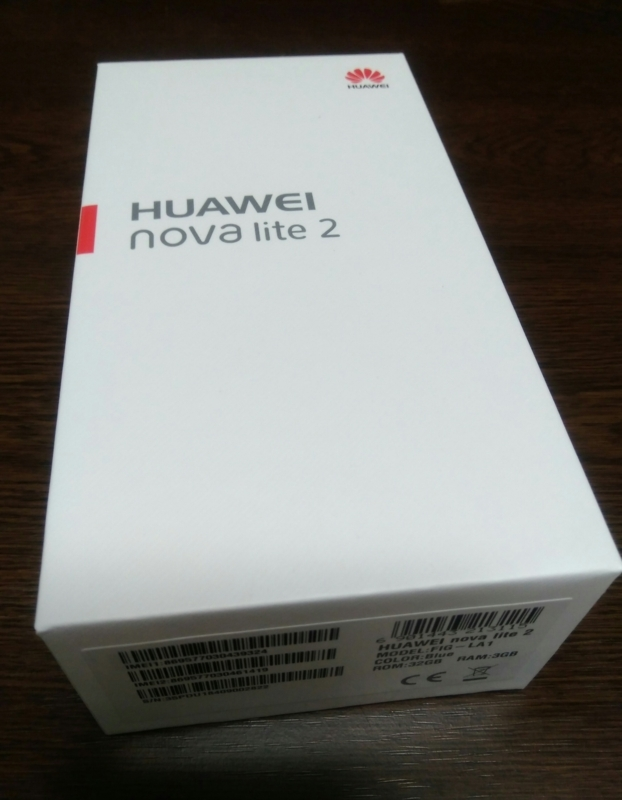 HUAWEI nova lite 2が届きました。