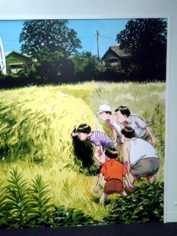 浦沢直樹展 子供の頃のケンヂたちの特大パネル