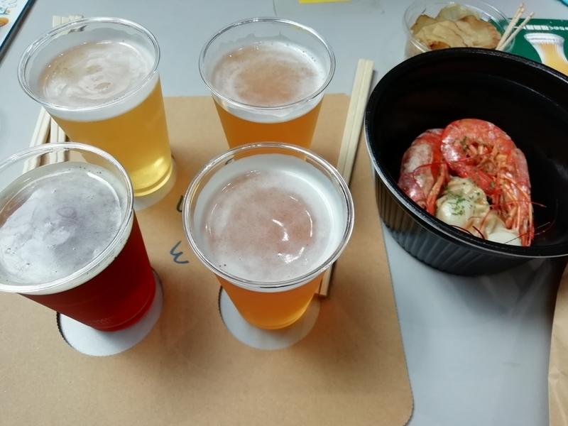福島路ビールさんの飲み比べ