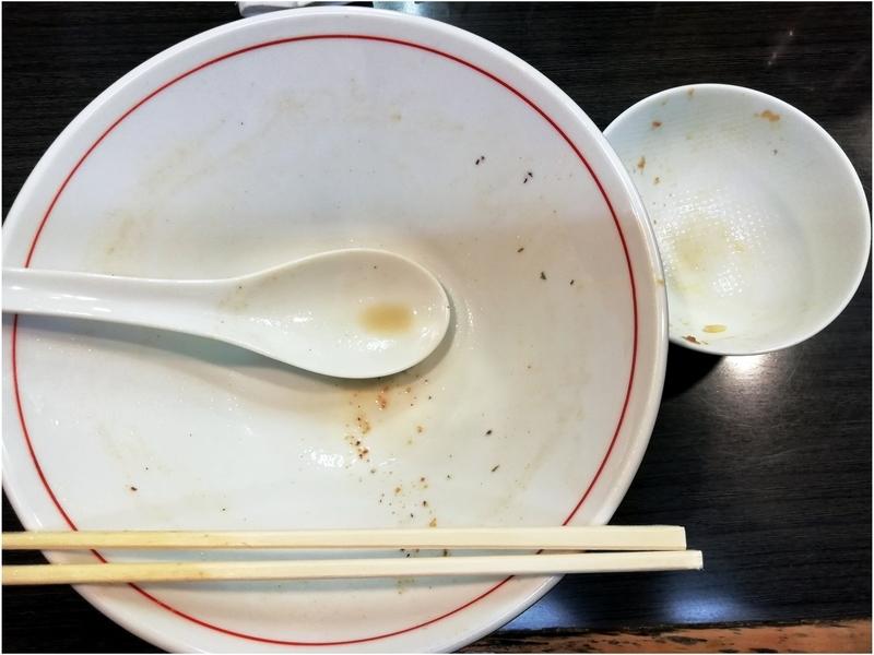鴨真鯛らーめん+ミニローストビーフ丼を完食完飲。