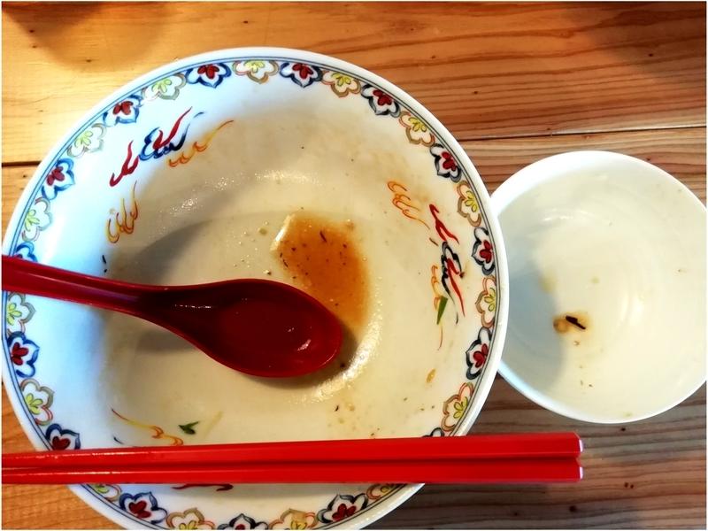 くじら食堂nonowa東小金井店さんの特製油そばと肉みそ付ごはんを完食完