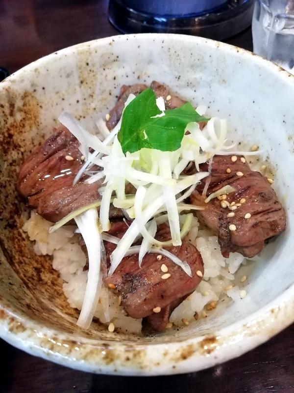 麺屋 葵さんの鴨ハツ丼 350円