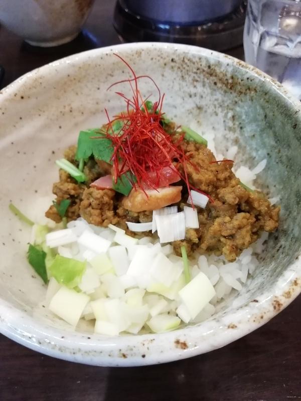 麺屋 葵さんの鴨キーマカレー丼 350円