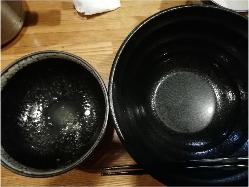 煮干つけ麺を完食完飲