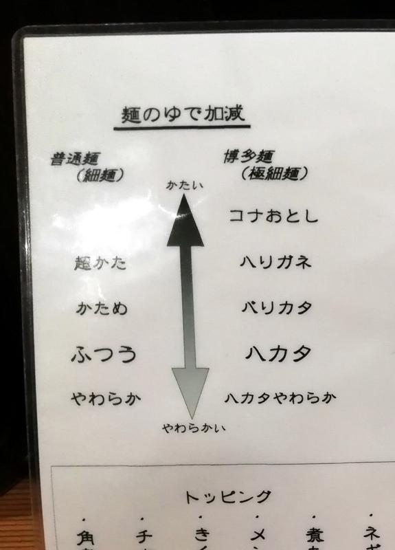 博多屋台さんの麺オーダーシステム