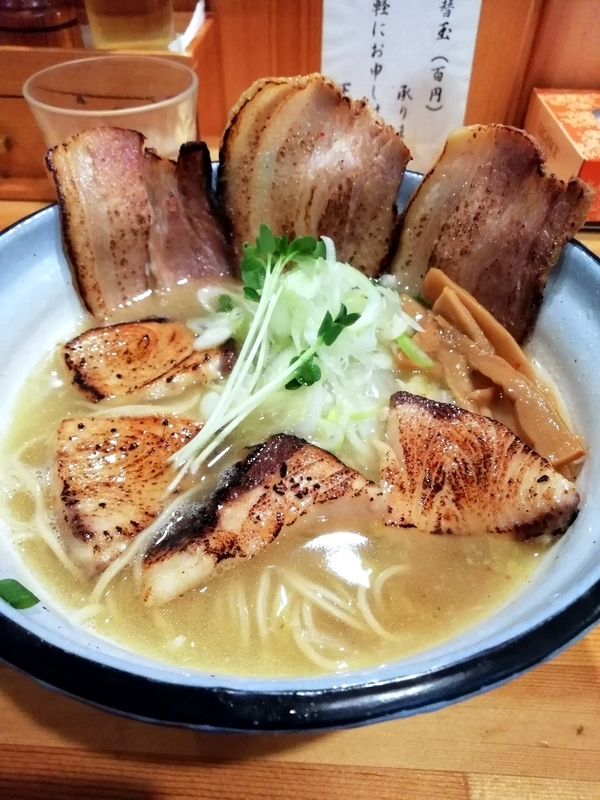 めんや正明さんの鰤チャーシュー麺 塩 1080円
