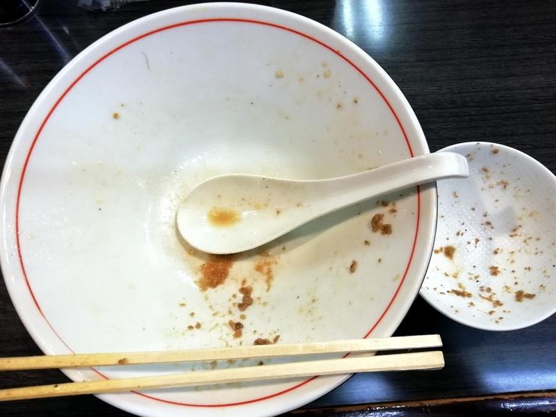 秋刀魚ラーメンと秋刀魚と海老のふりかけご飯を完食完飲