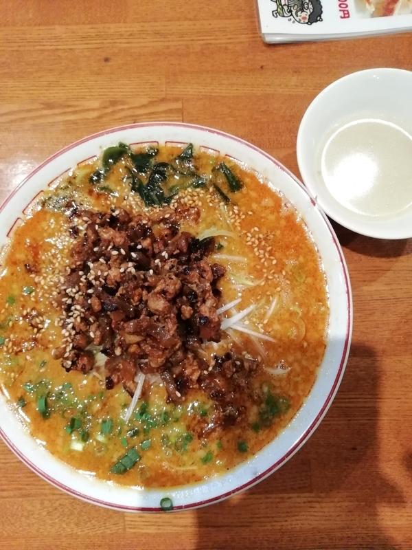 天然豚骨ラーメン専門店 よってっ亭さんのおやじの担々麺 950円