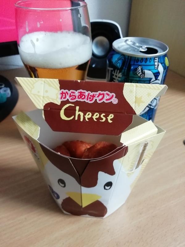 流星レイディオとからあげクン北海道チーズ味