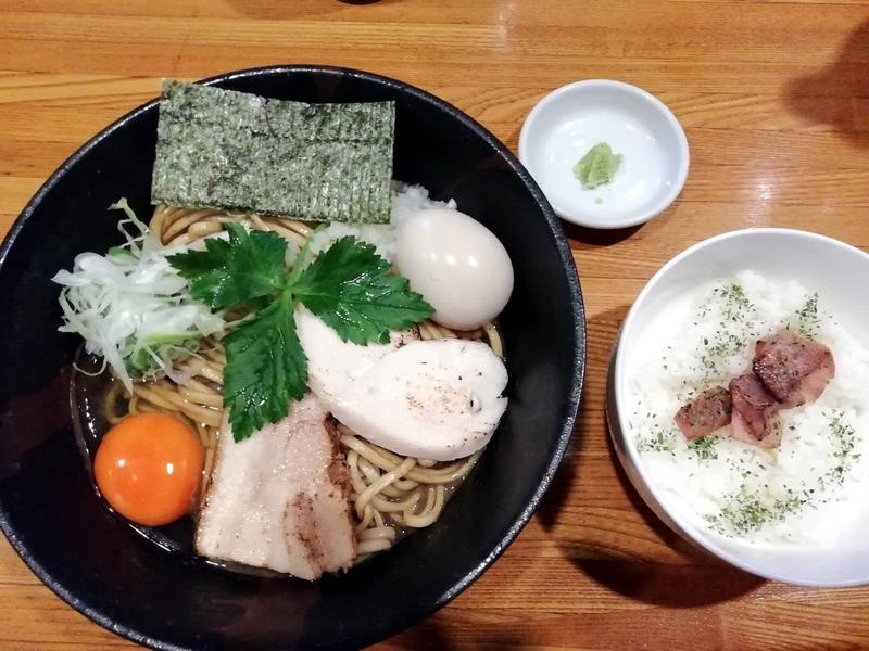麺屋ひな多さんの期間限定 真鰯のまぜそば〜おい飯付き〜(中)950円
