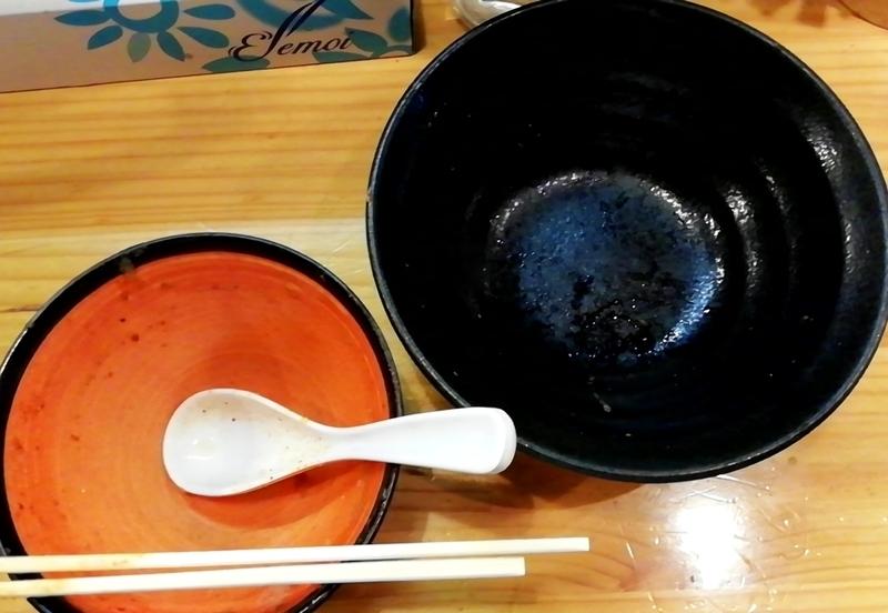 miso style となみさんの辛みそつけめんを完食・完飲。