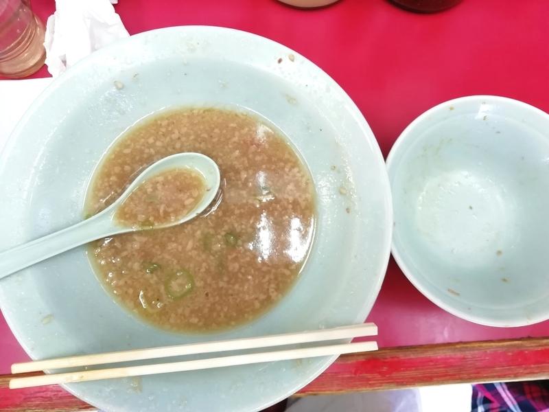 ラーメンショップ牛久結束店さんのチャーシューメンと小ネギ丼を完食。