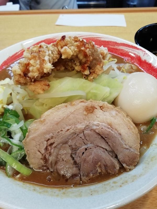 藤ろうさんの味噌ラーメン小 800円+辛味 50円+味玉(クーポンサービス)