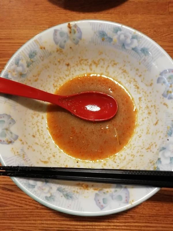 食為先さんの担々刀削麺を完食。