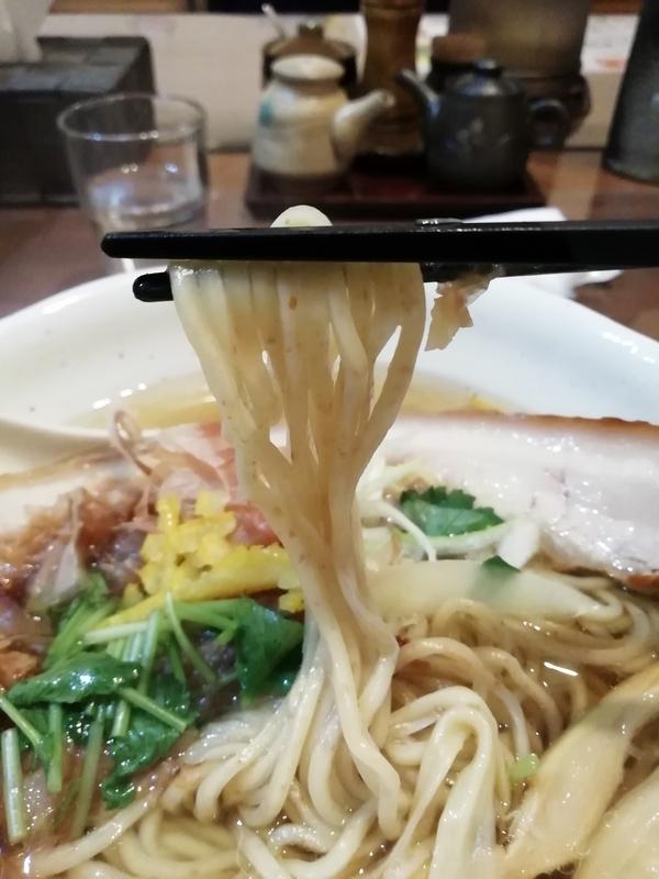 和風柚子塩麺の特製全粒粉麺
