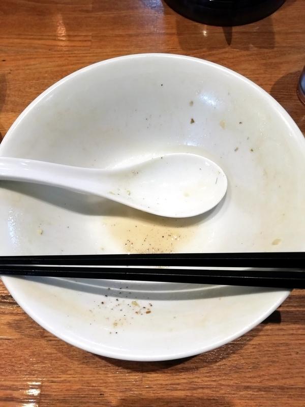 中村屋総本山さんの煮干しそばを完食・完飲。