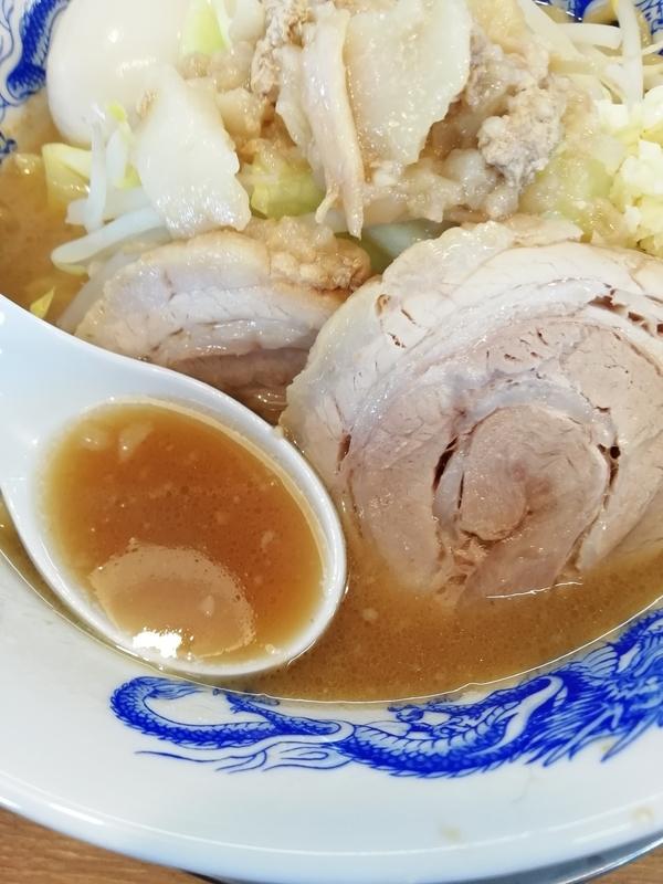ジャンクガレッジ深谷店さんのラーメンのスープ