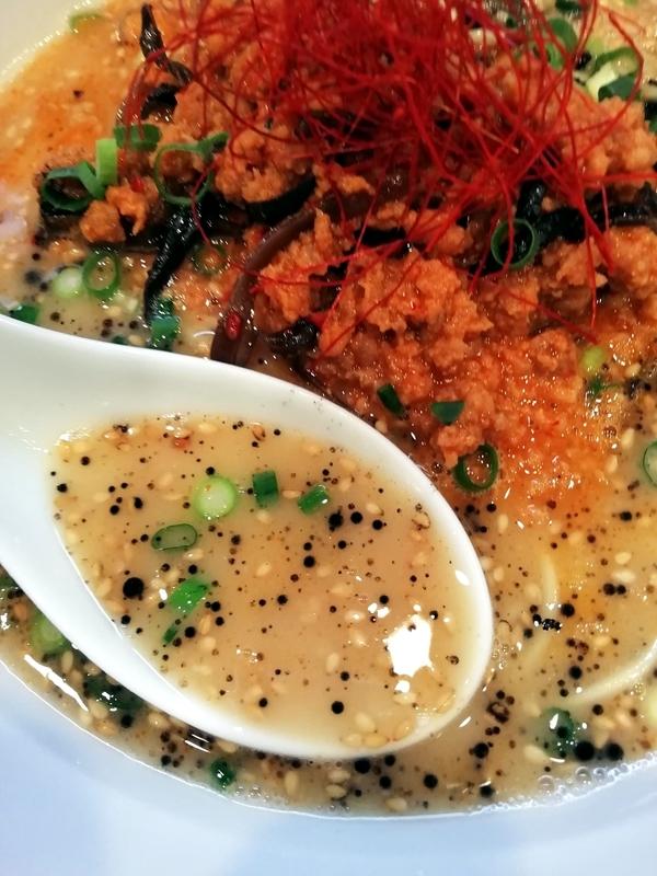 麺屋MANIさんの担々麺のスープ