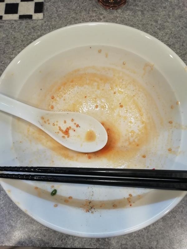 麺屋MANIさんの担々麺を完食・完飲。