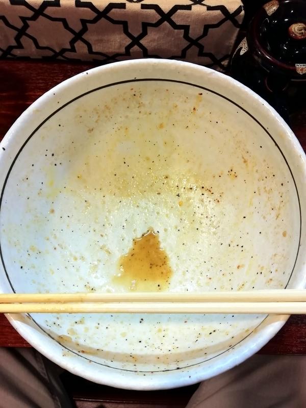 麺屋 旬さんのこってり汁なしを完食。