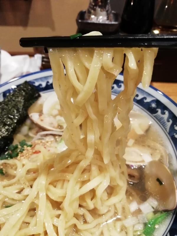 和風楽麺 四代目ひのでや 大宮店さんのはまぐりラーメンの麺
