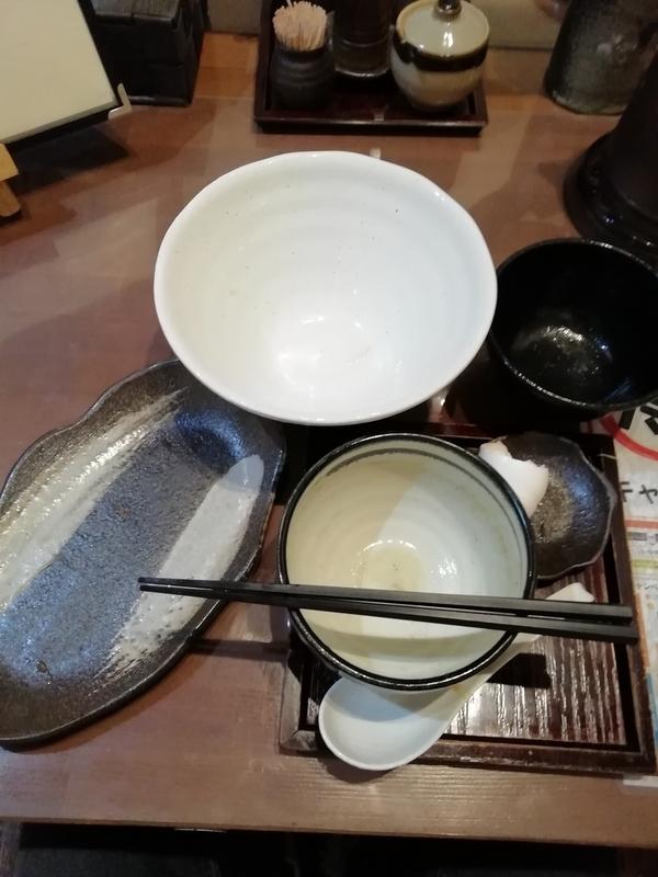 麺工房かなでさんの和風つけ麺とミニチャーシュー丼を完食・完飲。