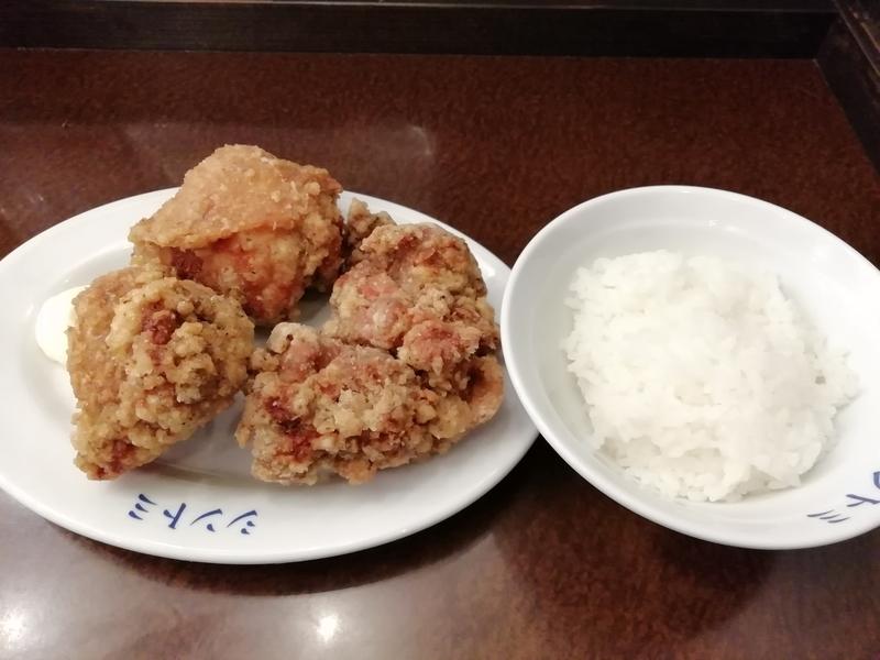 極濃湯麺シントミ 本庄店さんの唐揚げセット 180円(税別)