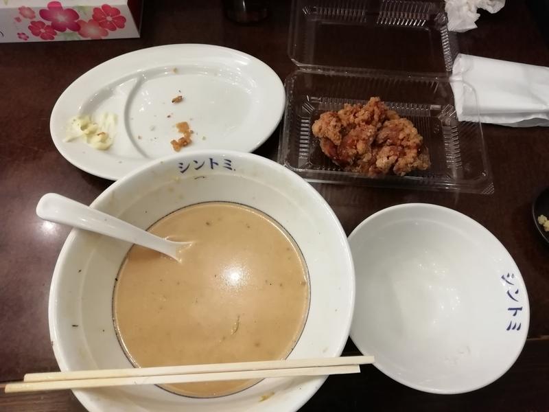 極濃湯麺シントミさんの濃厚タンメンと唐揚げセットを完食ならず!
