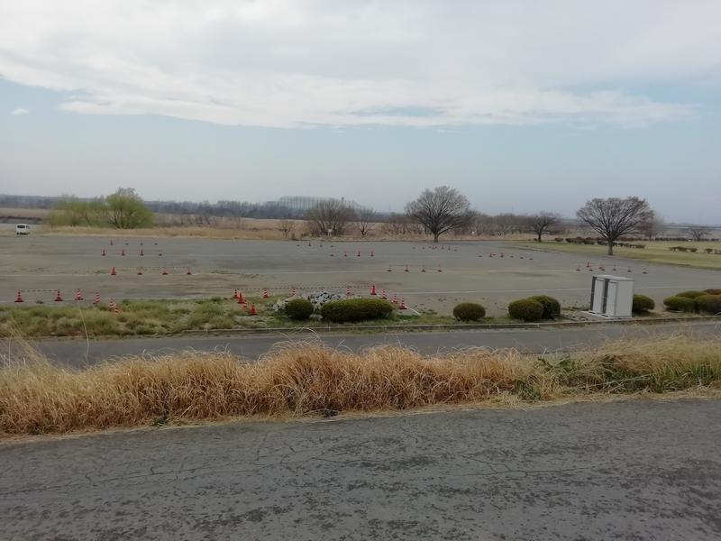 熊谷桜堤の無料駐車場