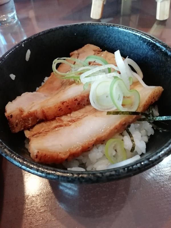 麺工房かなでさんのミニチャーシュー丼 クーポンで100円