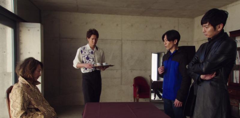 北岡秀一法律事務所に訪れた真司と蓮@龍騎2019